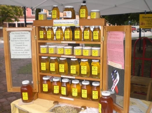 Honey for Sale on Display